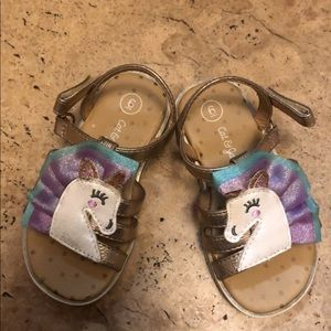 Cat and jack unicorn sandals